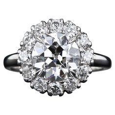a real beauty!   2.30 Carat European-Cut Antique Diamond Ring