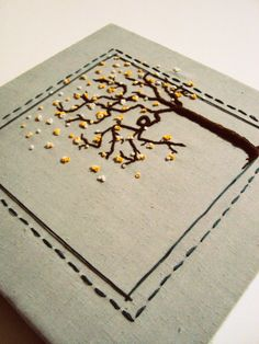 Hand Embroidered Tree on Canvas by Patchwork Place