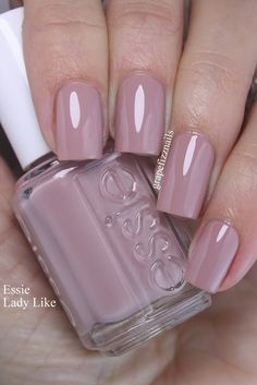 Hi Dolls Essie Lady Like is one of the most beautiful nude shades I've ever worn. It leans a little bit mauve and little bit peach a...
