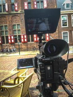 Filming in Doesburg for a small documentary about the Hanze at the river The IJssel. June 14th, 2019.