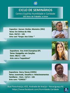 Ciclo de Seminários do CE Humildade e Caridade - Nova Iguaçu - RJ - http://www.agendaespiritabrasil.com.br/2015/11/03/ciclo-de-seminarios-do-ce-humildade-e-caridade-nova-iguacu-rj/