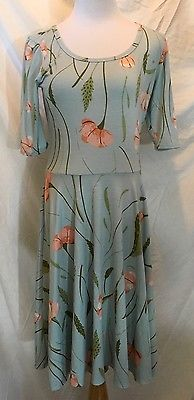 LuLaRoe LLR Nicole Dress Size Medium M Baby Blue Floral Poppies EUC | Clothing, Shoes & Accessories, Women's Clothing, Dresses | eBay!