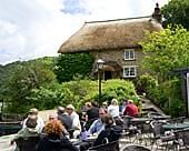 Smugglers Cottage Tea Room at Tolverne on the river Fal. Cornwall. England. Lovely little place to have a cream tea.
