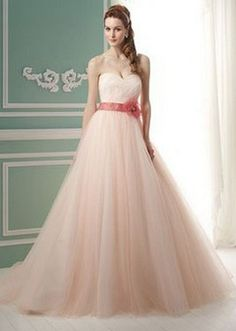 vestido de novia rosa 1 Vestidos de novia en color rosa