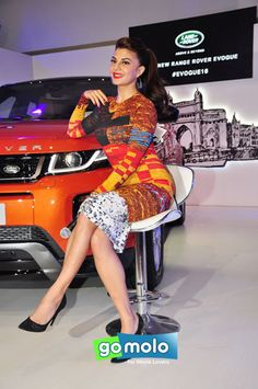 Jaqueline Fernandez at the Launch of Jaguar Land Rover's new car 'Rover Evoque 2016' in Mumbai