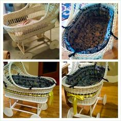 Vintage Bassinet Redo from Pine Creek Style