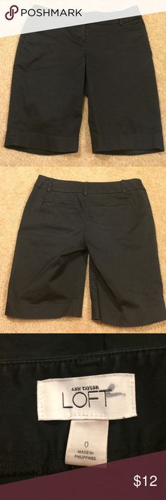 Black Ann Taylor Bermuda shorts Black knee length shorts from Ann Taylor• size 0• pockets in the front and back Ann Taylor Shorts Bermudas
