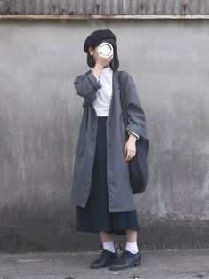 小豆 │ehka sopo Shirts Looks - Asian Winter Fashion K Fashion, Ulzzang Fashion, Muslim Fashion, Asian Fashion, Modest Fashion, Hijab Fashion, Winter Fashion, Fashion Outfits, Fashion Models