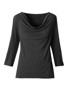 Drape neck shirt - Coldwater Creek