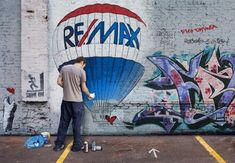 RE/MAX ... graffiti