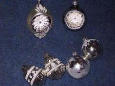 Oude antieke kerstballen 2 kerstklokjes