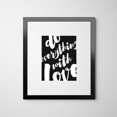 Motivational Poster Inspirational Print, Quote Print, Typography Art Poster Black and White Art, Wall Art, Monochrome Home Decor Print Large
