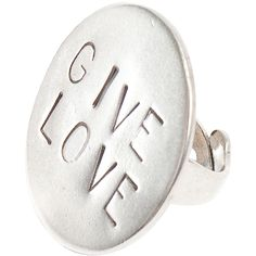 winter - bague give love vieil argent Metal Jewelry, Silver Jewelry, Silver Rings, Jewelry Rings, Jewellery, French Designer Brands, Love Ring, Cufflinks, Accessories