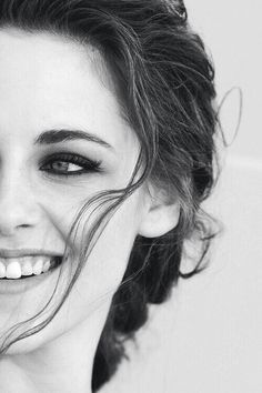 Kristen Stewart...there's a limited amount of pictures when she's smiling so, take note.Want to have perfect white teeth like this? Beware of bleaching treatment see at here for the answer why