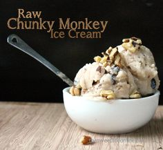 Raw Chunky Monkey Ice Cream. This really is gorgeous