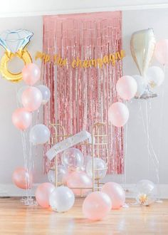 29 Piece Bachelorette Kit - Pink Rose Gold Party Decor, Bachelorette Backdrop, Engagement Party Decorations, Bridal Shower, Fringe Curtain 29 Piece Kit 'Pop The Champagne She Is Changing Her Name' Pink Rose Gold Bachelorette Party / Brida Bachelorette Outfits, Gold Party Decorations, Engagement Party Decorations, Bachelorette Party Decorations, Bridal Shower Decorations, Pink Bachelorette Party, Engagement Parties, Bachelorette Weekend, Engagement Ring