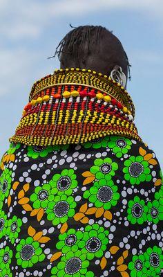 Africa | Details; Turkana woman. Loiyangalani, Kenya | © Eric Lafforgue