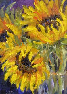 Karen Margulis--Sunflower Joy, oil, 5x7