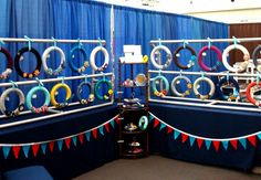 pvc craft show display   We Be Talented: Heartfelt Yarn Wreaths' First Craft Show!