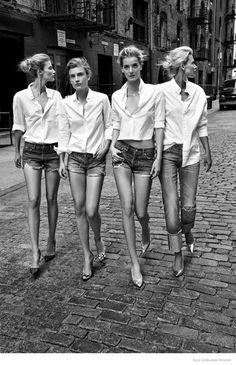 Czech Models Unite for Elle Czech Shoot by Branislav Simoncik