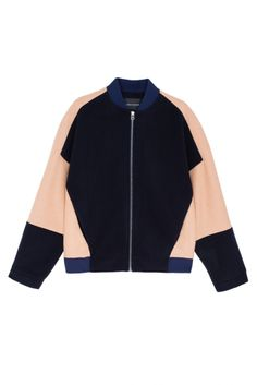 Шерстяной бомбер Cedric Charlier - Бомбер из плотной натуральной шерсти из коллекции молодого бренда Cedric Charlier в интернет-магазине модной дизайнерской и брендовой одежды