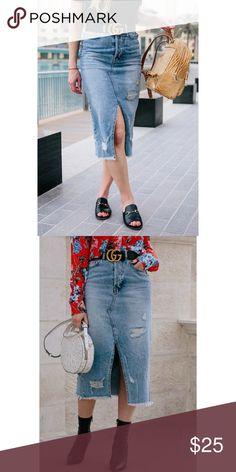 H&M midi denim skirt size 4 New with tag Midi length H&M Skirts Midi