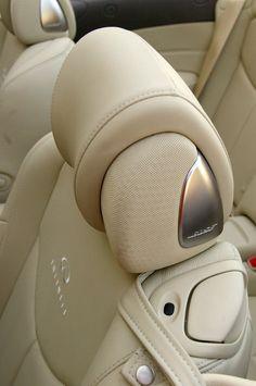 2009 Infiniti G37 Convertibles headrest speakers - Photo © Aaron Gold