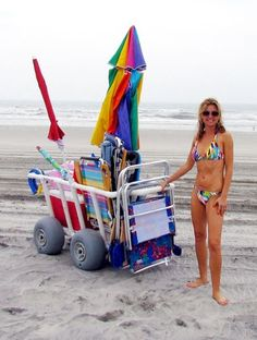 beach cart with air filled tires - Google Search