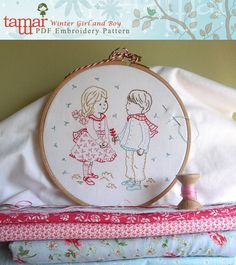 Embroidery Pattern Instant Download  Winter by TamarNahirYanai, $5.00