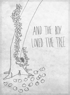 Shel Silverstein Sketch - The Giving Tree. One of my favorites!!!!