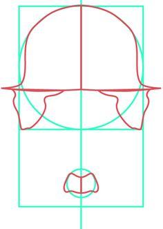 Primer boceto del pictograma alusivo a Charles Chaplin. Si puede notar, el pictograma sigue los trazados de las distintas medidas y proporciones previamente mostrada.