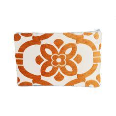 Stencil Tablet Zipper Pouch in Orange design by Baxter Designs