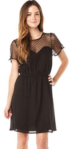 Sheer dot dress