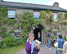 me, just before going into Beatrix Potter's house