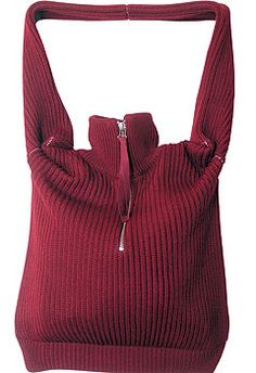I found this on a knitting and crochet site of bags! You could easily make one out of a child's sweater.
