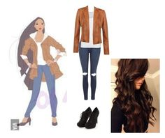 """""""modern Pocahontas"""" by book-lover1225 ❤ liked on Polyvore featuring Topshop, American Vintage, Marvel Comics and modern"""