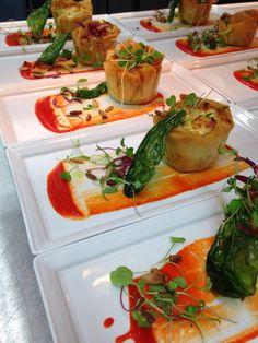 Vegetarian Goats Cheese Tartlet, Galloping Gourmet