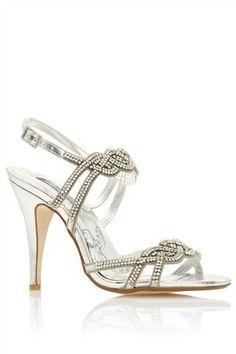 98c76d14d Silver Diamanté Plaited Sandals Gold Bridesmaid Dresses