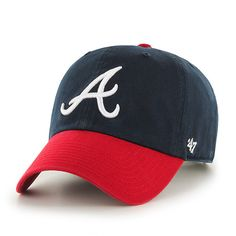 Atlanta Braves 47 Brand Navy Red The Franchise Fitted Slouch Hat Cap