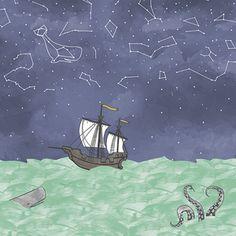 Hawthorne Threads - Mariner - Sailors Delight Border in Seaglass #MarinerFabric
