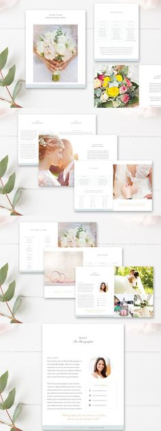 #magazine #design from ByStephanieDesign | DOWNLOAD: https://creativemarket.com/ByStephanieDesign/689799-Wedding-Photographer-Magazine?u=zsoltczigler