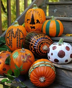 Fall Decorations Including Pumpkins On Pinterest