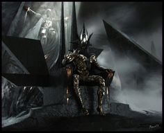 Morgoth Bauglir and Hurin Thalion by Sergey Musin  http://www.visualart.me/work/3791