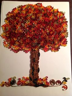 My quilled autumn tree