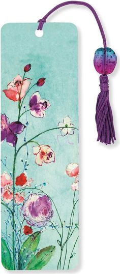 Fuchsia Blooms Beaded Bookmark: Peter Pauper Press
