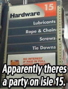 Shades of Grey meets Home Depot! Lol!