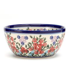 Red Berry Bowl - Polish Pottery