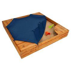 sandbox lid idea...KidKraft KidKraft Backyard 5' Square Sandbox with Cover