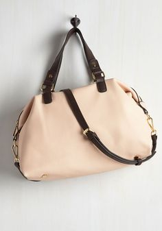 Suited Commuter Bag in Blush - Pink, Black, Solid, Work, Casual, Minimal, Spring, Travel, Pastel, Gals