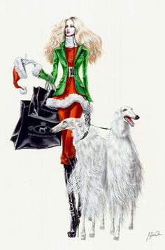 Christmas... ~Arturo Elena Fashion illustration